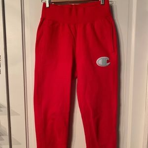 Red Champion Sweatpants